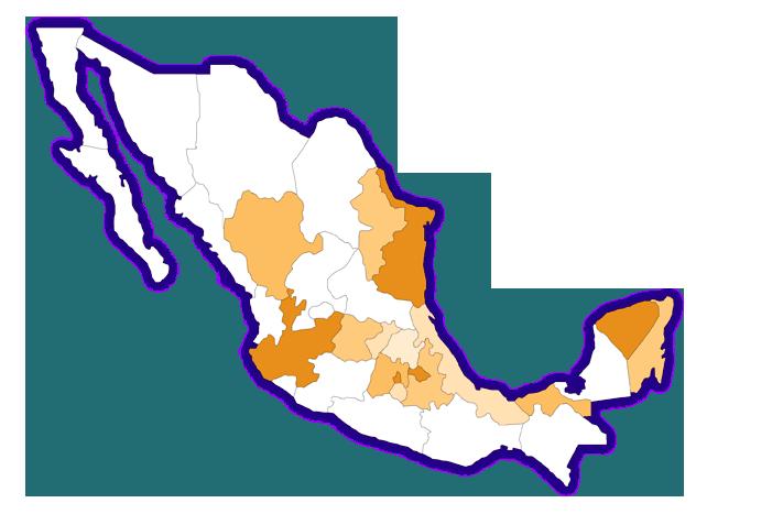 Mapa de distribución naciona