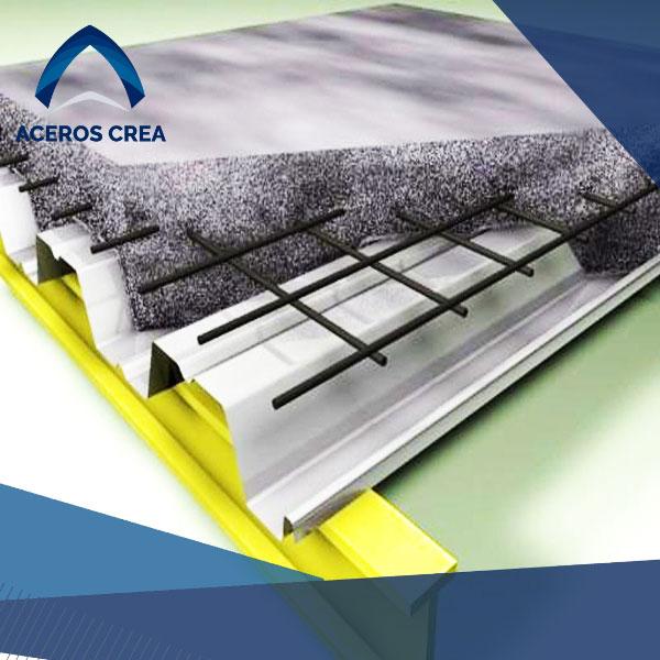 Funciones del losacero con concreto y malla electrosoldada